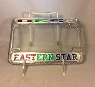 Order of the Eastern Star OES Motorcycle License Plate Frame