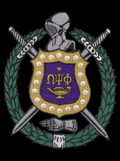 Omega Psi Phi Fraternity Emblem- 5 Inches