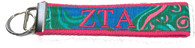 Zeta Tau Alpha Sorority Key Fob- Pattern #2