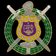 Omega Psi Phi Fraternity Lapel Pin with Crystal Stones
