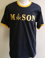 Mason Masonic Square and Compass Ringer T-shirt