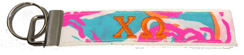 Chi Omega Sorority Key Fob-Pattern #2