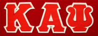 Kappa Alpha Psi Fraternity Twill Letter Set- Red/White