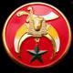 Shriner Car Emblem-Red