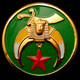 Shriner Car Emblem-Green