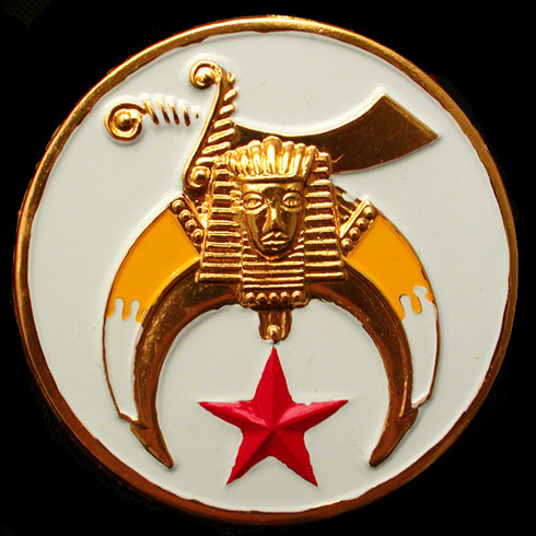 Shriner Car Emblem-White