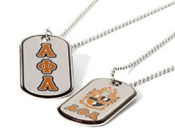 Alpha Phi Alpha Fraternity Reversible Dog Tag