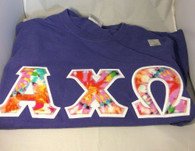 Shirt Inspiration- Sorority Double Stitched Shirt- Tie-Dye- Comfort Colors-Purple
