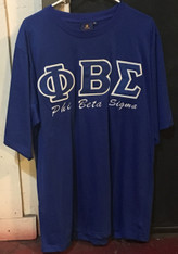 Phi Beta Sigma Fraternity Stitched Letter Shirt