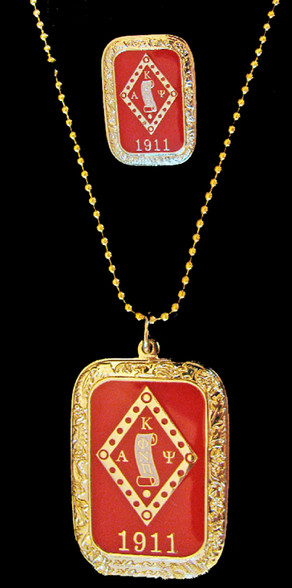 Kappa Alpha Psi Fraternity Dog Tag and Lapel Pin Set