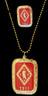 Kappa Alpha Psi Fraternity Dog Tag and Lapel Pin Set