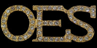 Order of the Eastern Star OES Crystal Pin-Gold