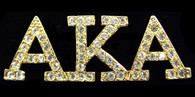 Alpha Kappa Alpha AKA Sorority Crystal Pin-Gold