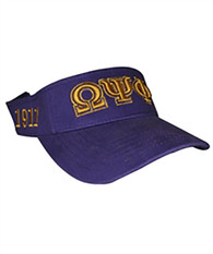 Omega Psi Phi Fraternity Visor Hat Cap
