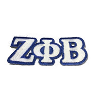 Zeta Phi Beta Sorority Connected Letter Set-White
