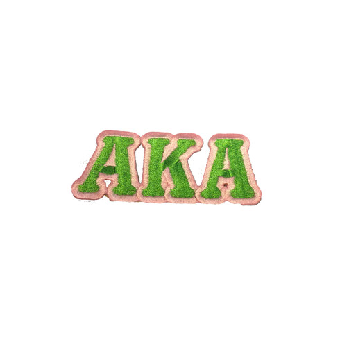 Alpha Kappa Alpha AKA Sorority Connected Letter Set-Green