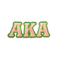 Alpha Kappa Alpha AKA Sorority Connected Letter Set-Pink