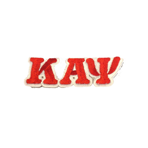 Kappa Alpha Psi Fraternity Connected Letter Set-Crimson