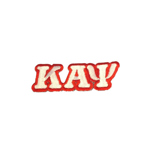 Kappa Alpha Psi Fraternity Connected Letter Set-White