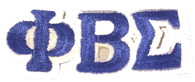 Phi Beta Sigma Fraternity Connected Letter Set-Blue