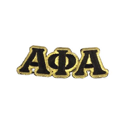 Alpha Phi Alpha Fraternity Connected Letter Set-Black