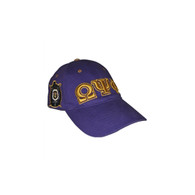 Omega Psi Phi Fraternity Three Greek Letter Baseball Hat