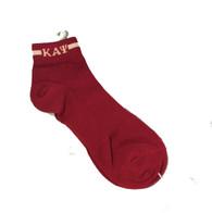 Kappa Alpha Psi Fraternity Socks Footies- Crimson/ Cream