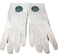 International Masons White Gloves with Symbol