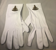 Mason Masonic Past Master White Gloves with Symbol