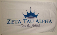 Zeta Tau Alpha Sorority Seek the Noblest Flag