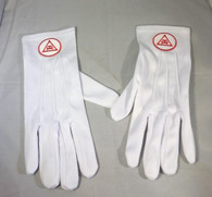 Mason Masonic Triple Tau Gloves