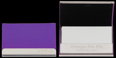 Omega Psi Phi Fraternity Business Card Holder