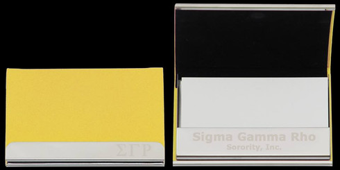 Sigma Gamma Rho Sorority Business Card Holder
