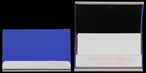 Phi Beta Sigma Fraternity Business Card Holder