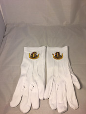 Order of the Eastern Star DOI Symbol Gloves