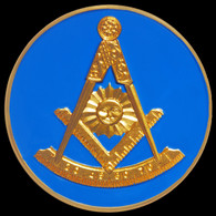 Mason Masonic Past Master Car Emblem
