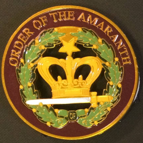 Order of the Eastern Star Amaranth Cut Out Car Emblem