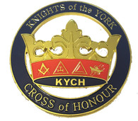 Mason Masonic Knights of the York Cut Out Car Emblem