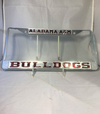 "Alabama A&M ""Bulldogs"" Silver/Maroon License Plate Frame"