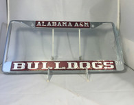 "Alabama A&M ""Bulldogs"" Maroon/Silver License Plate Frame"