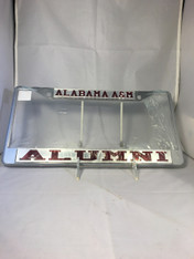 "Alabama A&M ""Alabama A&M Alumni"" Silver/Maroon License Plate Frame"