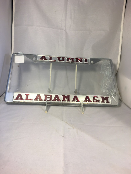 "Alabama A&M ""Alumni Alabama A&M"" Silver/Maroon License Plate Frame"