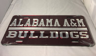 Alabama A&M University Bulldogs License Plate