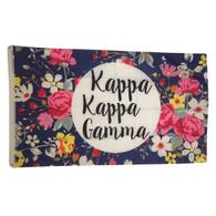 Kappa Kappa Gamma Sorority Floral Flag
