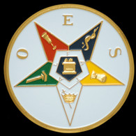 "Order of the Eastern Star OES  3"" Auto Tag"
