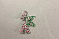 Alpha Kappa Alpha AKA Sorority Stacked Pin