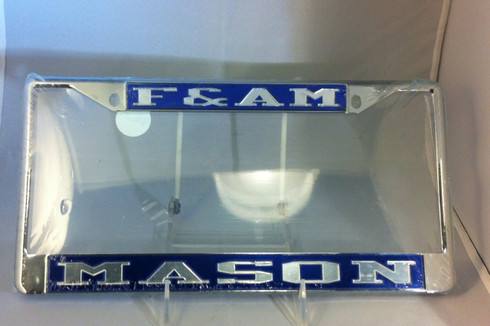 "Mason ""F & AM"" License Plate Frame"