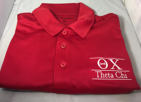 Theta Chi Fraternity Dri-Fit Polo-Large