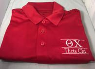 Theta Chi Fraternity Dri-Fit Polo-Red