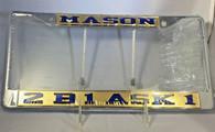 Mason Masonic 2B1 Ask1 Gold/Blue License Plate Frame